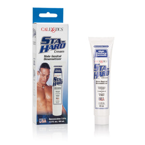 California Exotics - Sta Hard Male Genital Desensitizer Delay Cream (White) | Zush.sg