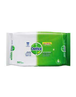 Dettol - Anti Bacterial Wet Wipes 50S - Zush.sg