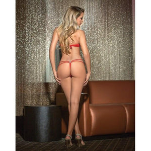 Escante - Circle Hardware Strappy G-Back Bottom One Size (Red) | CherryAffairs Singapore