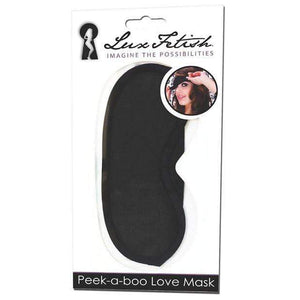 Lux Fetish - Peek A Boo Love Mask (Black) | CherryAffairs Singapore
