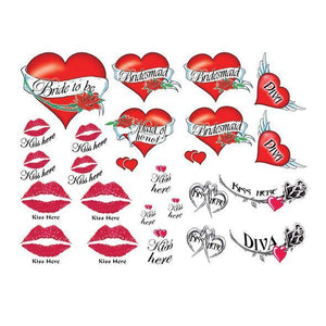 Naughty Bachelorette Tattoo Set - Zush.sg