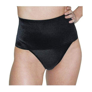Rago - Shapewear Soft Wide Band Thong Shaper L (Black) - Zush.sg