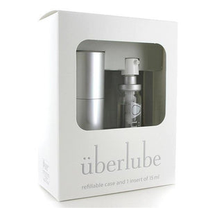 Uberlube - Silicone Lubricant Refillable Case 15ml (Silver) | Zush.sg