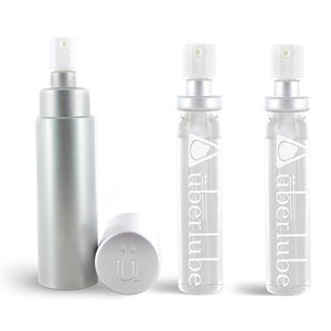 Uberlube - Silicone Lubricant Refillable Case with 3 Refills 15ml (Silver) | Zush.sg