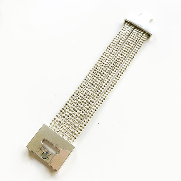 Studded Cuff Bracelet - Cream & Soft Gold