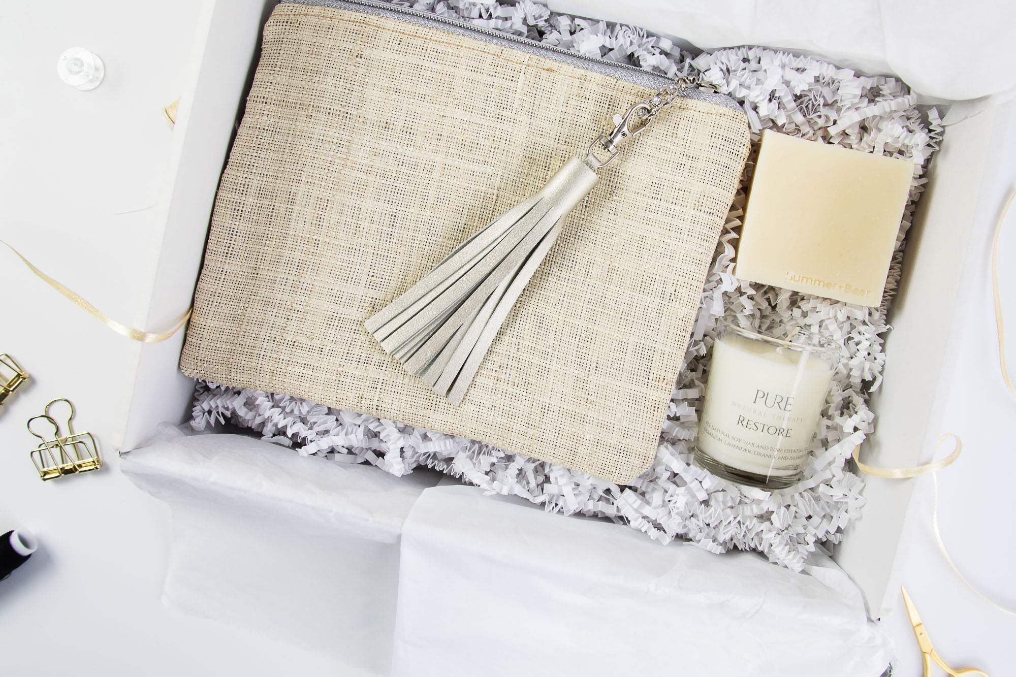 Fine Raffia & Silver - Happiness Box