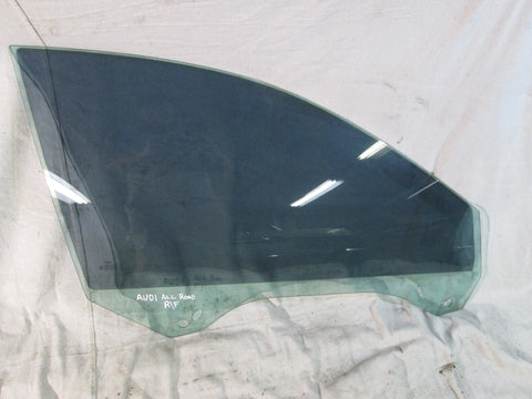Audi A6 Allroad right front window door glass 01-05