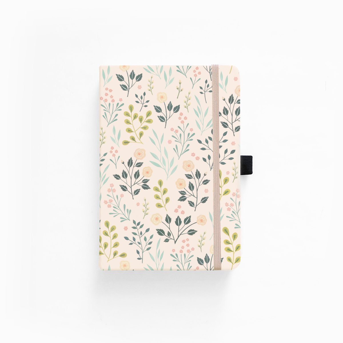 "Dot Grid Notebook ""Pink Flowers"""
