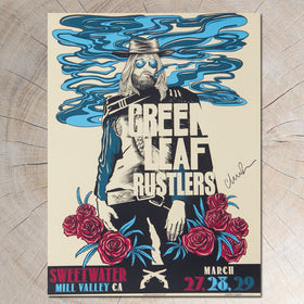 GLR Green Leaf Rustlers Show Poster Signed by Chris Robinson - D9