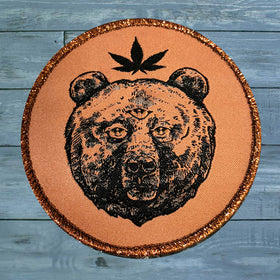 Trip Bear Embroidered Patch