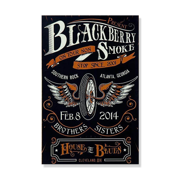 Cleveland, OH. House of Blues Poster Feb. 8, 2014 - D17