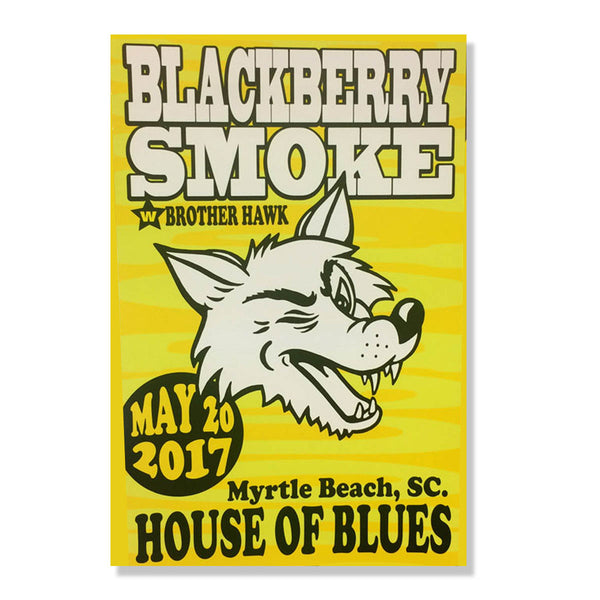 TOUR POSTER 2017 House Of Blues Myrtle Beach