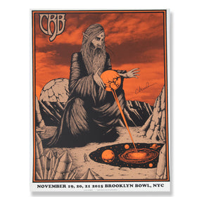 CRB Show Poster Brooklyn Bowl 2015 SIGNED BY CR D9