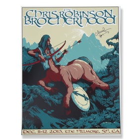 CRB Show Poster Fillmore Dec 2015 SIGNED BY CR D9