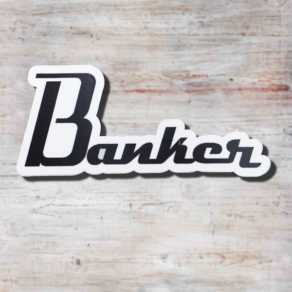 Banker Custom Guitars 4 inch Sticker