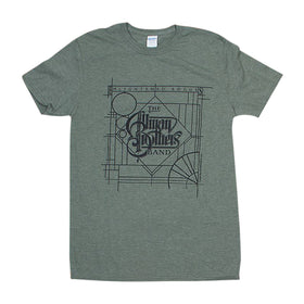 Allman Brothers BAND ENLIGHTENED Rogues Olive Tee