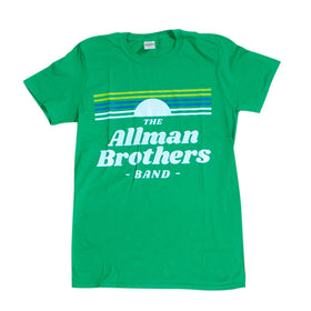 Allman Brothers Band Green Retro
