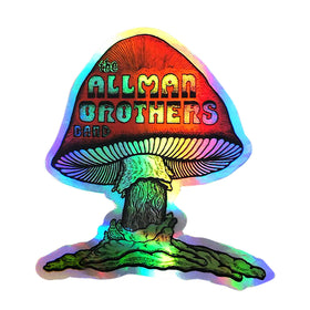 Allman Brothers Band Metallic Mushroom Sticker
