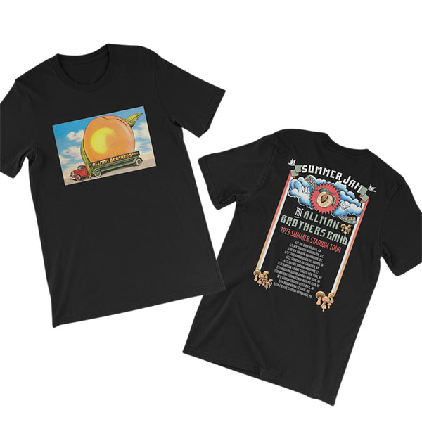 Allman Brothers Eat A Peach 73 Summer Tour  Tee (BLACK)