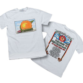 Allman Brothers Eat A Peach 73 Summer Tour  Tee