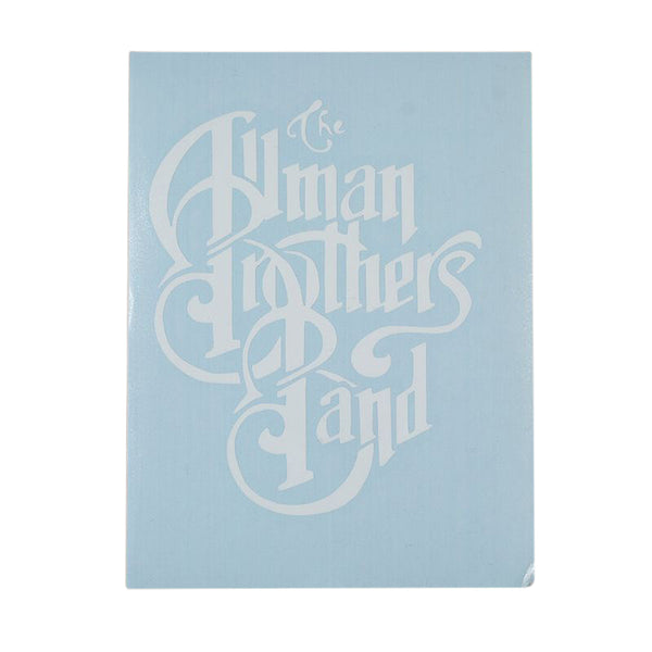 Allman Brothers Transfer Sticker White