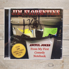 Jim Florentine Awful Jokes From My First Comedy Notebook CD Autographed