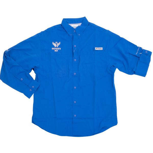 Shepherd's Men Blue PFG Tamiami™ II Long Sleeve Shirt Mens