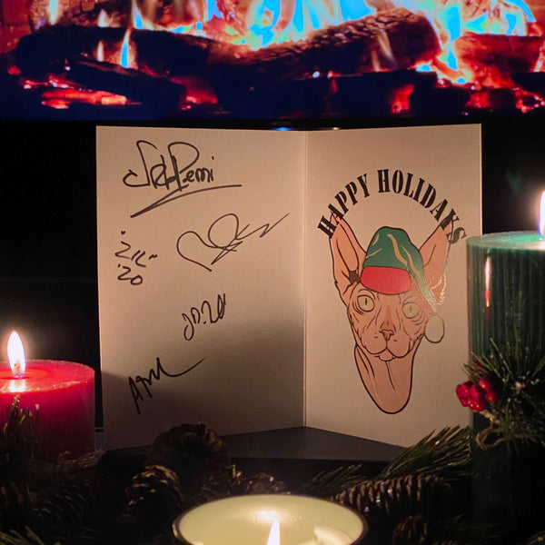 NICK PERRI & THE UNDERGROUND THIEVES SIGNED HOLIDAY CARD