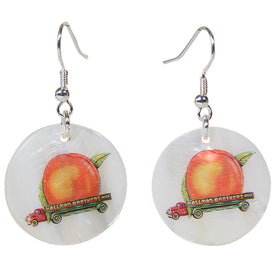 Eat A Peach Mother Of Pearl Earrings