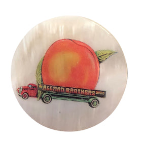 Eat A Peach Mother Of Pearl Lapel Pin