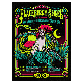 Florida Run 2021 Silk Screen Black Light Show Poster D- 1