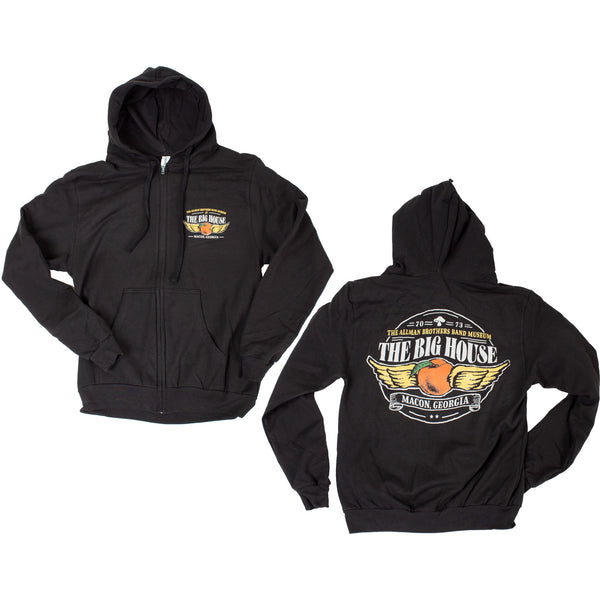 Big House Winged Peach Zip Up Hoodie
