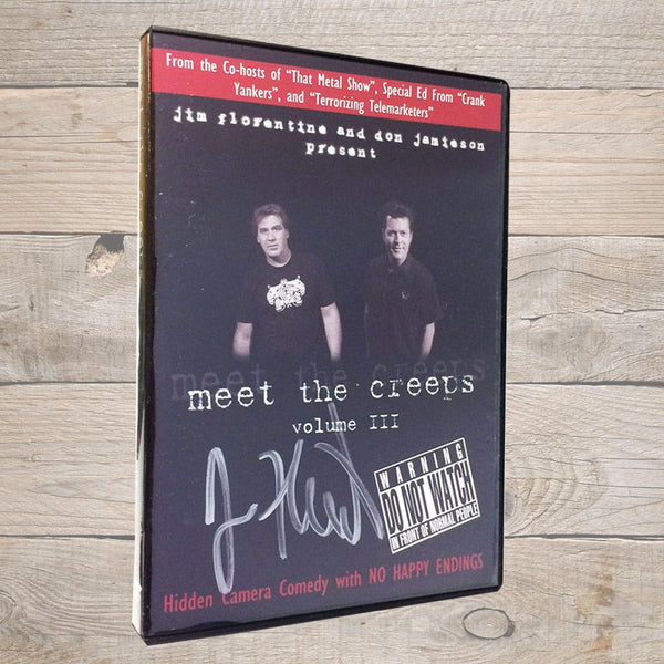 Jim Florentine Meet The Creeps 3 DVD Autographed