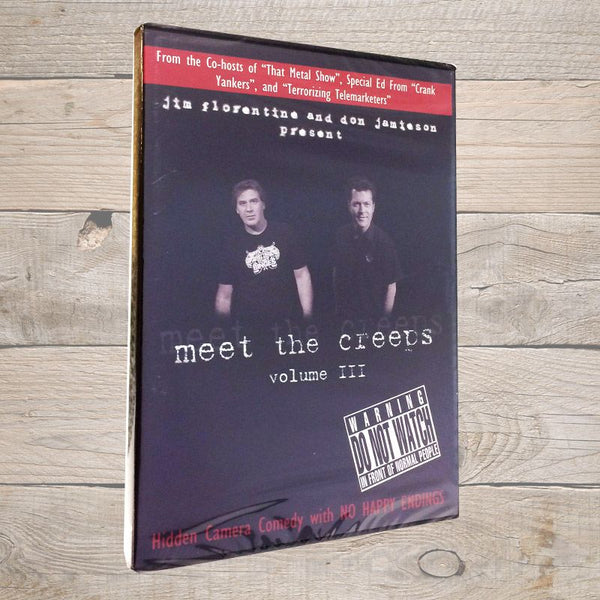 Jim Florentine Meet The Creeps 3 DVD
