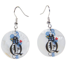 Queen Of Hearts Mother Of Pearl Earrings