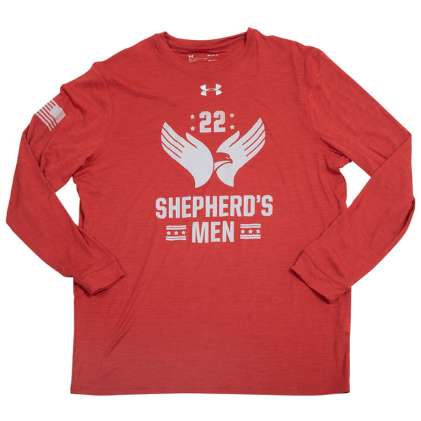 Shepherd's Men - MENS UA Heatgear Long Sleeve Red