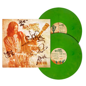 NICK PERRI & THE UNDERGROUND THIEVES SUN VIA LIMITED EDITION Cactus Green VINYL LP AUTOGRAPHED