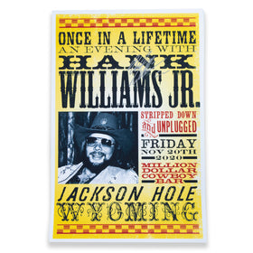 Live Stream Show Poster - Signed by Hank Jr