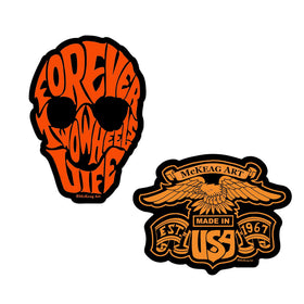 Darren McKeag Skull Eagle Sticker Pack