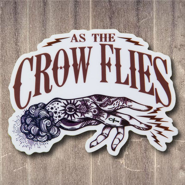 As The Crow Flies Sticker