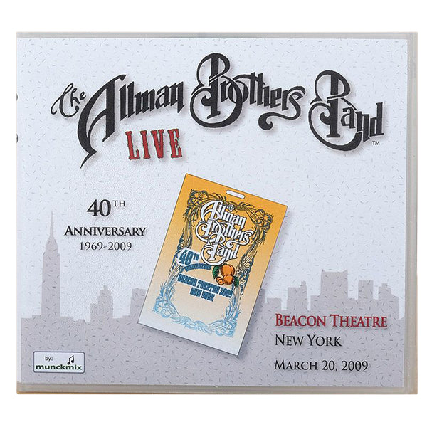 The Allman Brothers 40th Beacon NYC March 20 2009 CD