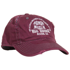 The Big House Hat Distressed Maroon