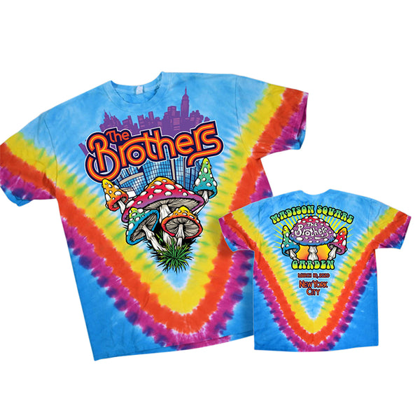 THE BROTHERS 50 Rainbow Tie Dye Tee