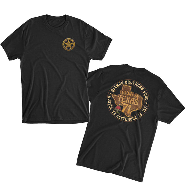 Allman Brothers Band Down In Texas 71 TEE
