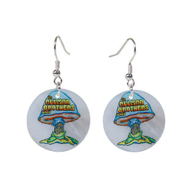 Mushroom Mother Of Pearl Earrings
