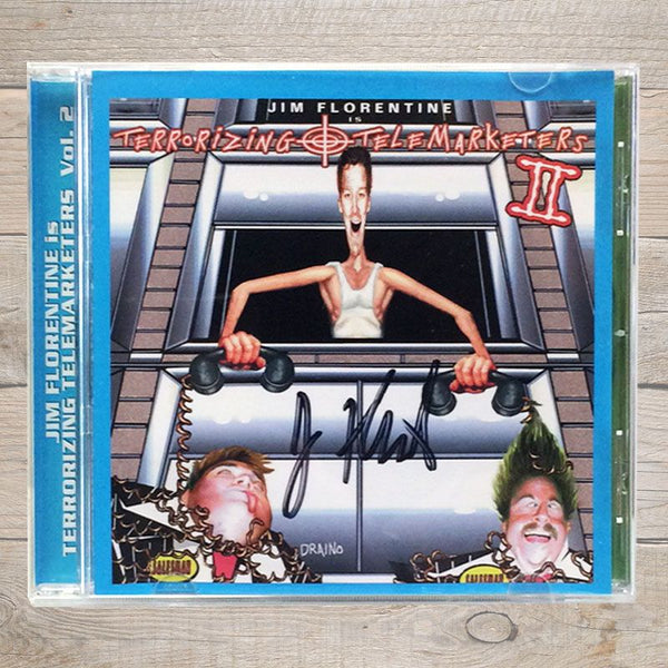 Jim Florentine Terrorizing Telemarketers 2 CD Autographed