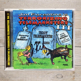Jim Florentine Terrorizing Telemarketers 3 CD Autographed