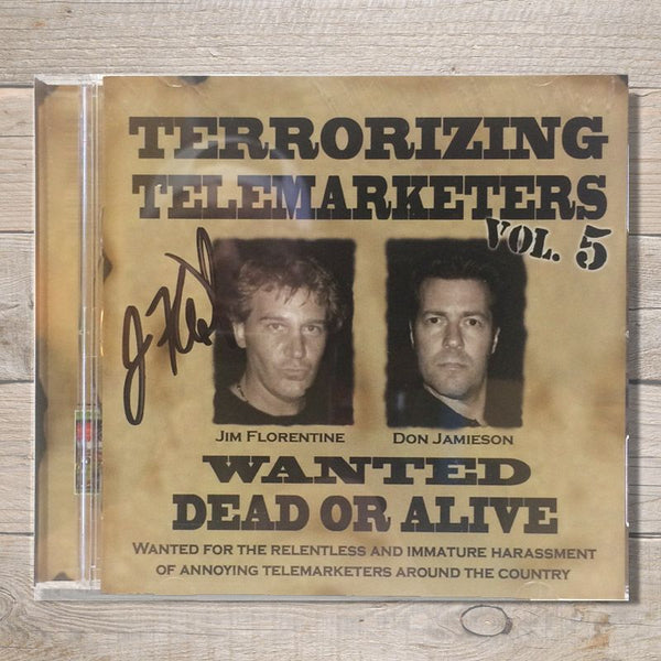 Terrorizing Telemarketers Volume 5 CD Autographed