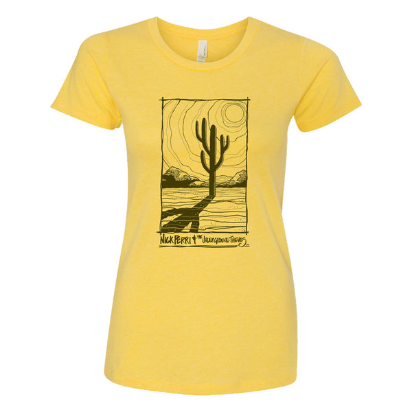 Nick Perri & The Underground Thieves Women's Cactus Tee