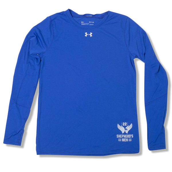 Shepherd's Men - Womens UA Heatgear Long Sleeve Blue
